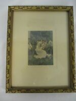 "VINTAGE SIGNED VILLAR ""FOR HER BOUDOIR"" PRETTY LADY PICKING FLOWERS PHOTOGRAPH"