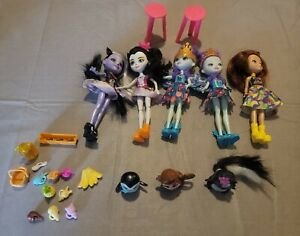 Enchantimals Mattel 5 Dolls Lot with Friends and Accessories