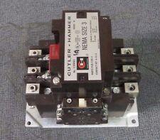 CUTLER HAMMER CONTACTOR 90 AMP, 3 PH, 600 V WITH 120V COIL MODEL: C10EN3