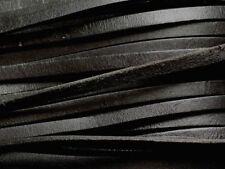 5 mètres - Cordon Lanière Cuir Véritable Noir 5 x 2mm   4558550006509