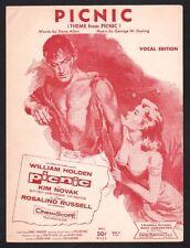 Picnic 1956 William Holden Kim Novak Sheet Music