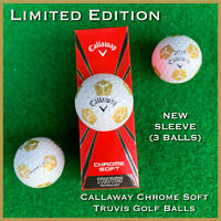 Callaway Chrome Soft TRUVIS Golf Balls  GOLD #ParadiseStrong - NEW 3-Ball Sleeve
