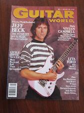 Guitar world 1/85 Jeff Beck Steve Van Zandt Vivian Campbell