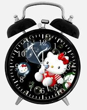 "Hello Kitty Alarm Desk Clock 3.75"" Room Office Decor W06 Will Be a Nice Gift"