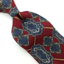 Arden Cravats Tie Geometric Red Gold Gray Silk Necktie Boys Child Children Ties