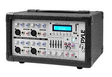 New Pyle PMX402M 4 Channel 400 Watts Powered Mixer w/ MP3 USB Input DJ Pro
