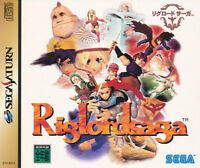 Riglord Saga  Sega Saturn Japan Import     Mint/ N.Mint      US SELLER