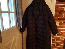 LANDS END WOMENS GOOSE DOWN FULL LENGTH HOODED PARKA LONG PUFFER COAT. Plus 1-2x
