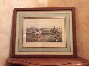 ANCIENNE Gravure de chasse anglaise 19ème ?dessin H Alken gravure de J.Harris