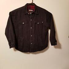 Craftsman Black Full Button Snap Jacket Mens Large