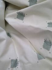 Quality Curtain Fabric Chivasso Green & Grey Cotton Linen Weave 5 Metres
