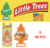 Little Trees Peachy Peach Freshener Air Tree 10319 MADE IN USA Pack of 48