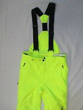 Spyder Bormio Yellow Removable Suspenders Insulated Pants Sz 18 Boys EUC