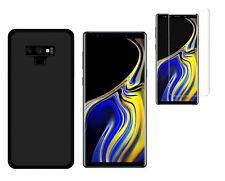 Funda Negra Samsung Galaxy Note 9 (6.4) TPU GEL SILICONA + CRISTAL 3D