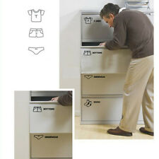 Wardrobe Sort Stickers Decor Drawer Clothes Storage Category Labels Decals Home