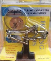 EXPO TOOLS 738-60 Helping Hands with Magnifier Glass - stand, glass, 2 clips
