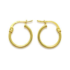 14K Gold over 925 Sterling Silver Round Hoop Earrings