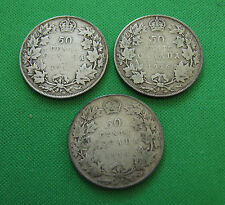 1916 1917 1919 Canada 50 cents lot of 3 coins Good + to VG