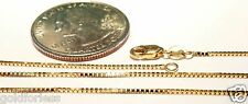 10kt Pure Solid Gold 18 inch .8MM BOX CHAIN w/LOBSTER LOCK......... Guaranteed!
