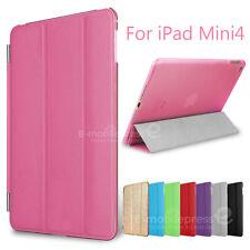 Luxury Ultra Slim Smart Cover Wake PU Leather Stand Case for Apple iPad Mini 4