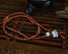 Natural Golden Sand Stone 108 4.5MM Buddhist Prayer Beads Mala Necklace/Bracelet