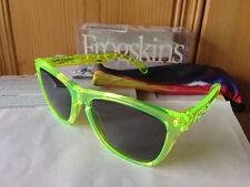 NEW Oakley - Frogskins - Sunglasses, Acid Green / Grey Lens, 24-249