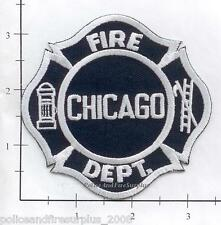 Illinois - Chicago IL Fire Dept Patch v4 - Blue - Old Style