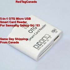 5-in-1 OTG Micro USB Smart Card Reader for Samsung Galaxy NOTE 2 3 8 Tab3 S3 S4.
