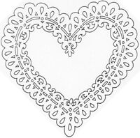 Unmounted Rubber Stamps, Valentines Day, Heart Stamps, Hearts Stamp, Doily Heart