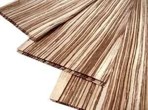 12 x Zebranofurnier ZEBRANO Zebra Wood Edelholz Holz Brett FURNIER Holzplatten