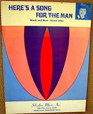 Here'S A Song For The Man - Sheet Music - Copyright 1971 by Duane Allen