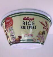 Kelloggs Cereal Bowls NEW Vintage Rice Krispies Large Melmac Hard Plastic
