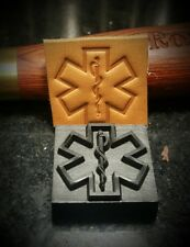 EMS Star of Life  EMT / Paramedic / Firefighter  leather embossing stamp