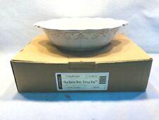 Longaberger Pottery Vintage Vine Oval Serving Bowl Cream New