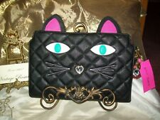 Betsey Johnson Quilted Cat Wristlet Purse Pouch Clutch NEW Tags MSRP $68 Retired