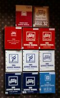 1981-1986 FISHER BODY MANUALS (GM) Lot of 11