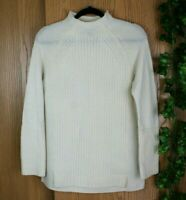 J CREW New England Sweater Womens Small S Wool Mock Pullover Knit Beige Tunic