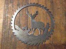 Saw Blade Style Deer Metal Art Plasma Hunting Wall Wildlife