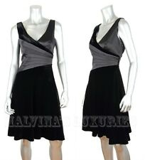 ARMANI COLLEZIONI BY GIORGIO ARMANI DRESS V-NECKLINE SLEEVELESS BLACK VELVET 44