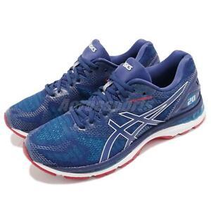 Asics Gel-Nimbus 20 Blue White Red Men Running Training Shoes Sneakers T800-N400