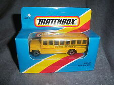 278B Vintage Matchbox 1981 MB 47 Bus School Bus School District 2 US 1:76