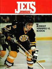 1981 Winnipeg Jets Home vs Boston Bruins NHL Hockey Program #15