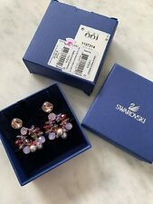 Swarovski Earrings Swan Ribbon Pierced 1127214 NIB $165 Mother's Day Gift
