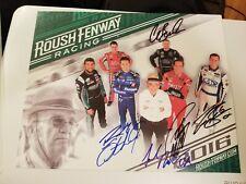 Jack Roush signed 8x10 photo Plackard Roush Racing Owner HOF autographed  b