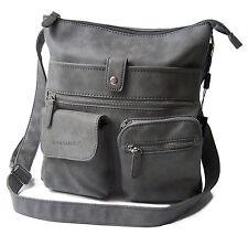 Handtasche Umhängetasche Cross-over Bag Street Wildleder OPTIK 3426 grau