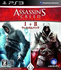 Used PS3 Assassin's Creed I+II SONY PLAYSTATION 3 JAPAN JAPANESE IMPORT