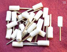 "25 pcs med Barrel Felt Wool Polishing 1/8"" shank bit drills or Rotary Tools"