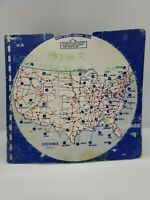 Dist-O-Map Rand McNally Distance Maps Vintage Well Used 1970's