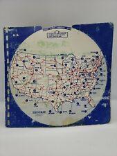 New ListingDist-O-Map Rand McNally Distance Maps Vintage Well Used 1970's
