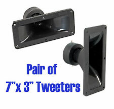 QTX Pair (2x) Piezo Horn Tweeter 7 x 3 inches 150W Max for PA Speaker Systems